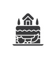 cake icon vector image vector image