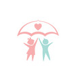 children icon design template isolated vector image vector image