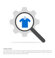 clothing item on hanger icon search glass with vector image