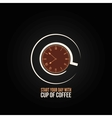 coffee cup time clock concept design background vector image
