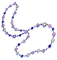 Colorful Beads Necklace Icon vector image