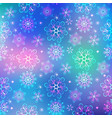 colorful christmas frame with pattern snowflakes vector image