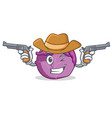 cowboy red cabbage character cartoon vector image vector image