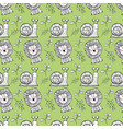 cute snail and lion animals background vector image vector image