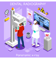 Dental X ray Isometric People vector image