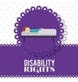 disability rights design vector image vector image