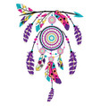 dream catcher on arrow vector image