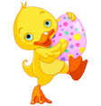 Easter Duckling Carry Egg vector image vector image