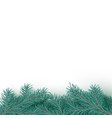 fir tree realistic border background christmas vector image vector image