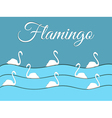 Flamingo float on the waves of paper vector image