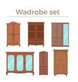 furniture cartoon wood vector image