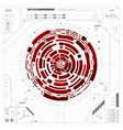 Futuristic graphic user interface vector image vector image