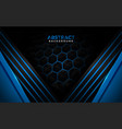 futuristic modern blue background with blue lines vector image vector image