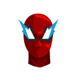 hero mask on a white vector image vector image