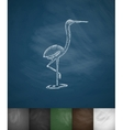 heron icon Hand drawn vector image
