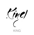 king template lettering vector image
