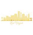 Las Vegas City skyline golden silhouette vector image vector image