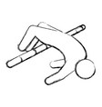 line pictogram man practice pole vault sport vector image vector image