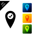 map pointer with check mark icon isolated marker vector image vector image