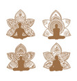 meditation set vector image vector image