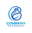modern natural pharmacy logo vector image vector image