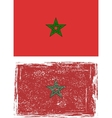 Moroccan grunge flag vector image vector image