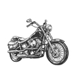 Motorcycle engraved vector image vector image