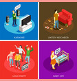 neighbors isometric design concept vector image vector image