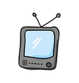 old tv drawing isolated icon design vector image
