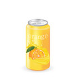 orange juice can vector image vector image