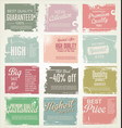premium quality retro vintage labels collection vector image