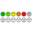 rating satisfaction feedback in form of vector image