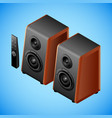 realistic sound speakers in isometry vector image vector image