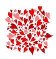 Red hearts background for your design vector image vector image