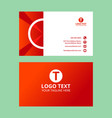 red wonderful business card vector image vector image
