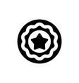 reputation badge icon vector image vector image