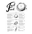 restaurant fast food menu with prices vector image