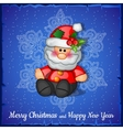 Santa Claus on the snowflakes background vector image vector image