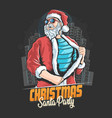 santa claus ready go to christmas party artwork ve vector image vector image