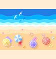 sea and beach vector image