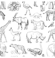 Seamless animal planet pattern vector image vector image
