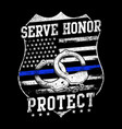 serve honor protect - police officer vector image vector image