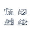 set design icons vector image
