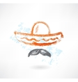 sombrero grunge icon vector image
