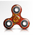 spinner toy bright plastic fidgeting hand vector image vector image