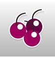 Sticker berry vector image vector image