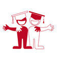 student icon friendship hug each other vector image vector image