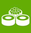 sushi icon green vector image vector image