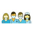 team doctors and nurses vector image