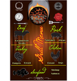 template for cover menu with fire vector image vector image